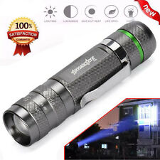 3000LM Zoomable CREE XM-L T6 LED 18650 Flashlight Torch Super Bright Light Black