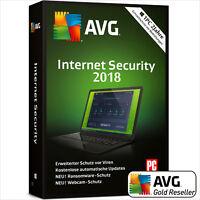 AVG Internet Security 2018 | 1PC 2 Jahre | Vollversion/Upgrade UE DE