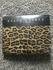 Ralph Lauren Aragon Neutral Guinevere Leopard Premium Fitted Sheet  Full Size
