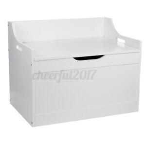 Toy Box in White Toy Storage Solf Close