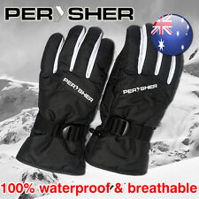 PERYSHER Men / Women Waterproof Snowboard Ski Gloves | Simple Stylish Design S