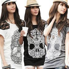 Bauchfreie Kurzarm Damenblusen, - tops & -shirts aus Baumwollmischung