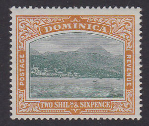Dominica. SG 35, 2/6 grey-green & maize. Fine mounted mint.
