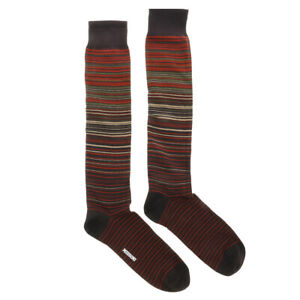 Missoni GM00CMU5238 0002 Red/Brown Knee Length Socks