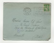 France timbre sur lettre tampon à date 1940 Toulon avec flamme l'aviation /L840