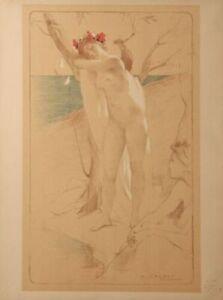 ANTOINE CALBET ORIGINAL LIMITED EDITION LITHOGRAPH FROM ESTAMPE MODERNE 1897