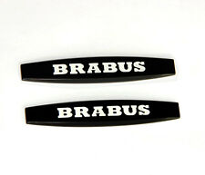 2x High quality Brabus Emblems Badge Side Sticker 3d for Mercedes Benz Red WU