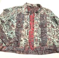 Citron Women's Silk Blazer Jacket Size Large L