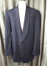 Marks & Spencer Super 100s Pure New Wool Black Shawl Dinner Jacket Tuxedo 44L