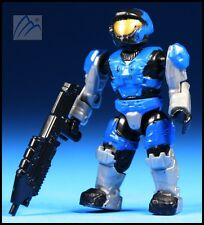 HALO MEGA BLOKS BLUE UNSC SPARTAN AIR ASSAULT W/ ASSAULT RIFLE MINI FIGURE