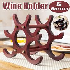 6 Bottles Wine Rack Wine Holders Wine Bottle Display Stand Bar Storage Racks U3