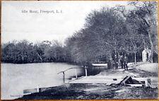 1910 Postcard: Idle Hour, Lake Scene - Freeport, Long Island, New York NY