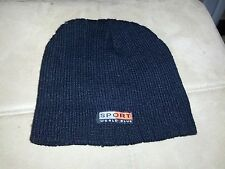 Sport World Blue Black Beanie hat