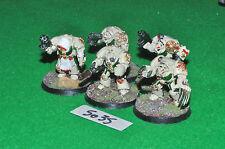 dark angel space marine deathwing terminator squad 5 (5035) painted metal warham