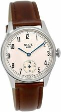 KUOE Made in Japan Watch Kyoto Brand Classic Antique 35mm Case Oiled Leather