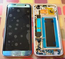 Genuine Samsung Galaxy S7 Edge G935f LCD Display Screen Coral Blue