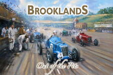 Metal Wall Sign - 'Brooklands' Large Size 40cm x 30cm