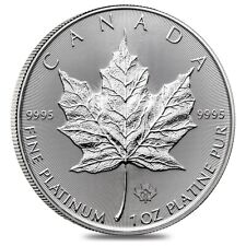 2020 1 oz Platinum Canadian Maple Leaf Coin $50 .9995 Fine BU