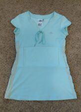 Adidas Clima 365 SAMPLE Tennis Dress Blue Gray Pocket V-Neck Drawstring RARE