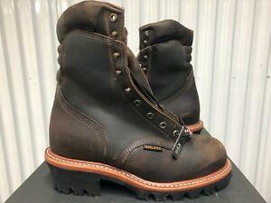 "Chippewa Arador Work Boots 9"" Waterproof Leather Steel Toe 9 3E 25405 USA Logger"