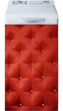 Sticker lave linge déco électroménager Capitonné rouge réf 15 40x80cm