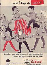 PUBLICITE ADVERTISING 044 1960 BALMORAL le collant reste pour les jeunes