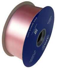 "FLORIST POLY RIBBON - 100 YARDS - 2"" WIDE - BABY PINK"