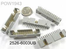 ( 25 PC. ) 3M 2526-6003UB 26 POS. DUAL ROW MALE HEADER, STRAIGHT