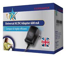 HQ Universal AC/DC Adapter 600mA  3V, 4.5V, 5V, 6V, 9V and 12V output