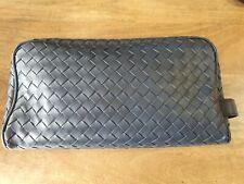 Authentic BOTTEGA VENETA Intrecciato Leather Toiletry Pouch AuthenticateFirst
