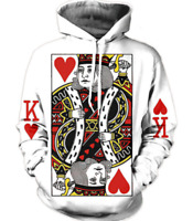 New Red King Hart 3D Hoodies Sweatshirt white Men Women Fashion Size S - 6XL