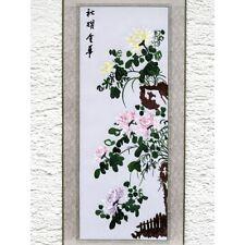 Chrysantheme, chinesisches Bild, Stickbild, Stoffbild, Stickerei, Stickkunst