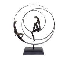 Sculpture Friendship Abstract Decorative Figurine Bronze Metal Partnership Art