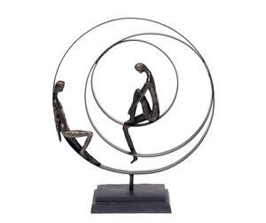 Decorative Figures Sculpture Friendship Abstract Bronze Metal Partnership Love