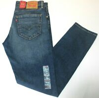 Men's Authentic Levi's 512 Slim Fit Tapered Blue Stretch Jeans # 288330111