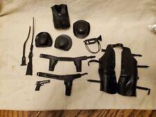 Vintage Marx Johnny West Black Figure Toy Accessories Custer Sherriff Garrett