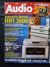 Audio 12/99, accuphase P 1000,asw Cantius VI, Dynaudio audience 79' 0, quadral Aurum