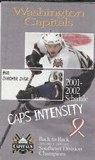 2001-02 NHL HOCKEY SCHEDULE - WASHINGTON CAPITALS #68 JAROMIR JAGR