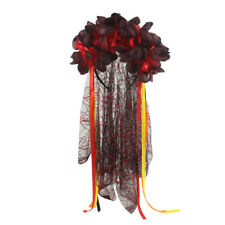 Mesh headband Dress up head buckle Ghost festival Prom Artificial rose Y2