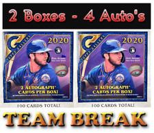 New York Yankees 2020 Topps GALLERY - 2 MONSTER BOX Team Break 4 Auto's