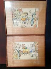 Mid Century Early European Western Colored Lithograph  #113