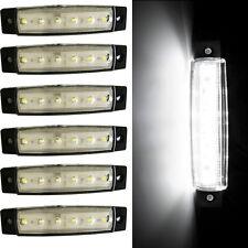 6PC 6LED Clearence BOAT BUS Truck Trailer Side Marker Indicators Light 12V White