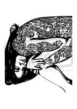 A7 'patrón floral mujer Desmontado sello de goma (SP00007689)