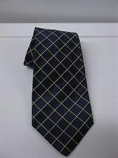 Ralph Lauren Polo Navy & Gold/White Stripe Silk Tie