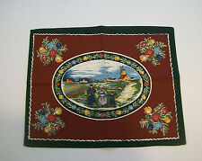 Holland Dutch Family Design Table Top Covering Table Centerpiece Mat