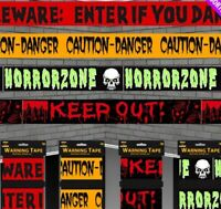 39FT LONG FRIGHT TAPE BANNER GARLAND WARNING HALLOWEEN PARTY SCENE DECORATION