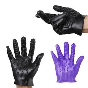 Masturbation Sex Glove Toy For Couples Erotic Vagina Anal Stimulator Palm Finger