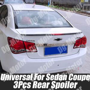3Pcs Universal Sedan Rear Boot Spoiler Ducktail HighKick For Chevrolet Cruze