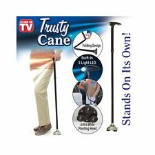 Trusty Cane Folding, Walking Triple Head Pivoting Base with LED As Seen on TV