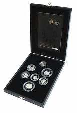 2008 Silver Proof Piedfort Royal Shield Collection 7 coin collection